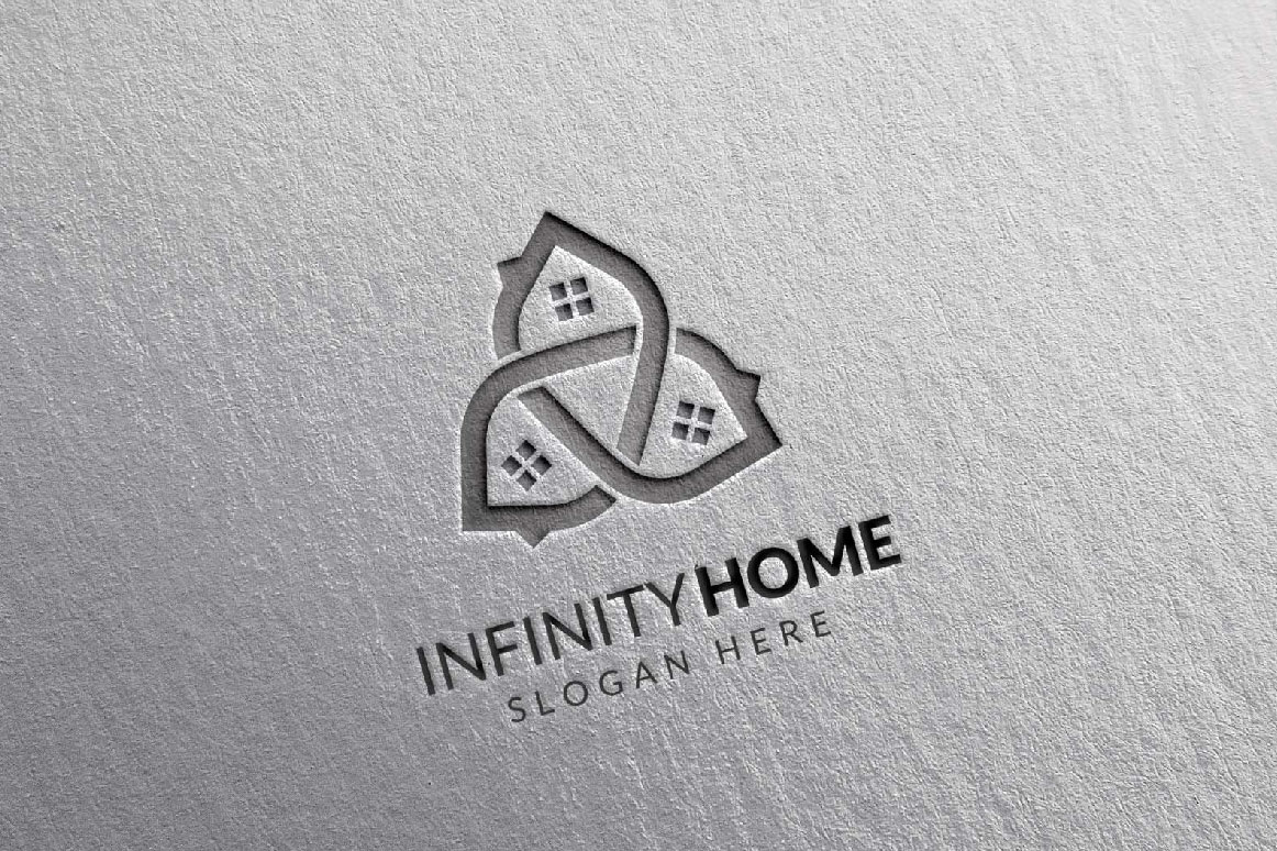 Real Estate Logo, Infinity Home Logo example image 5