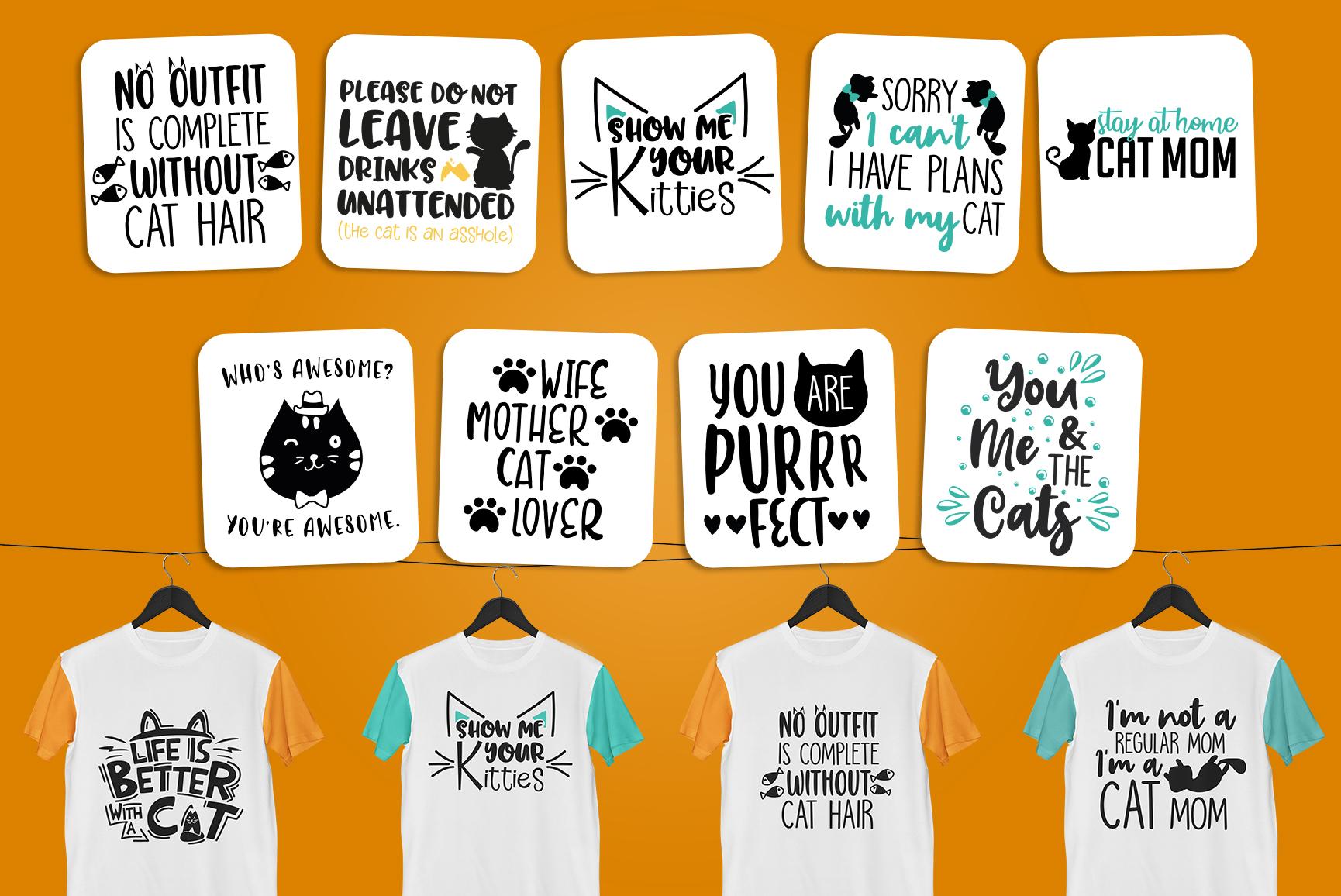 Cats SVG Bundle - Cat Quotes Bundle example image 3