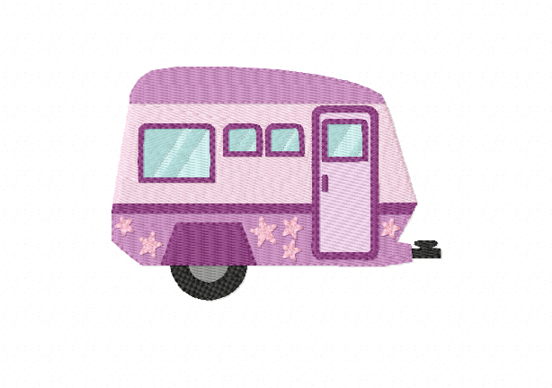 CARAVAN Multipack ~ 3 Filled Caravan Machine Embroidery Designs - Instant Download ~ Let's Go On Holidays! example image 2