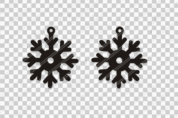 Christmas Snowflakes svg,Snow flakes svg,Snowflakes earrings example image 2