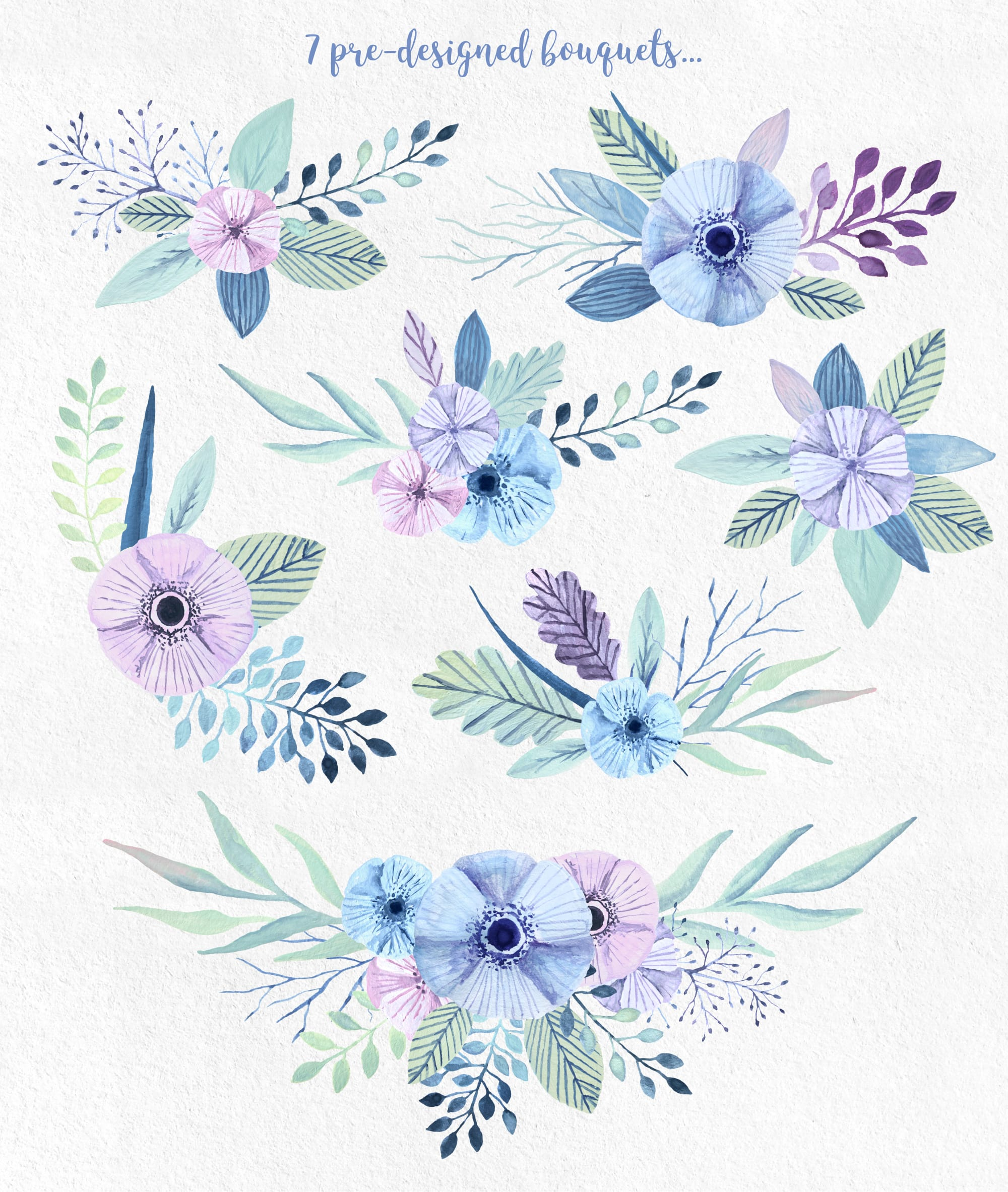 Winterflora floral set example image 3