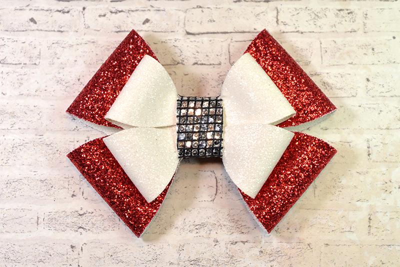 7 hair bow template svg  faux leather bow template cricut