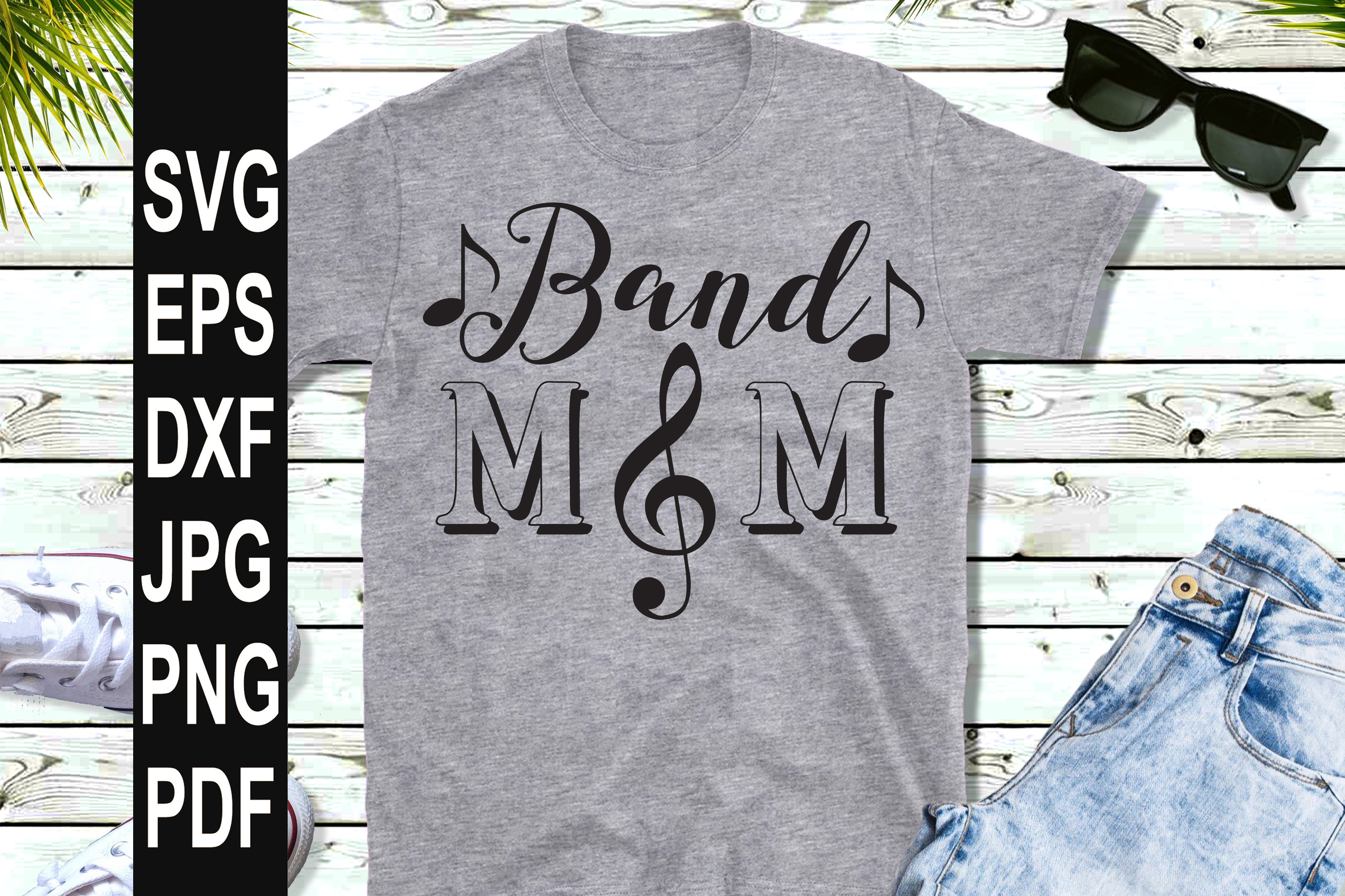 Band Mom SVG | Band Mom Clef SVG example image 3