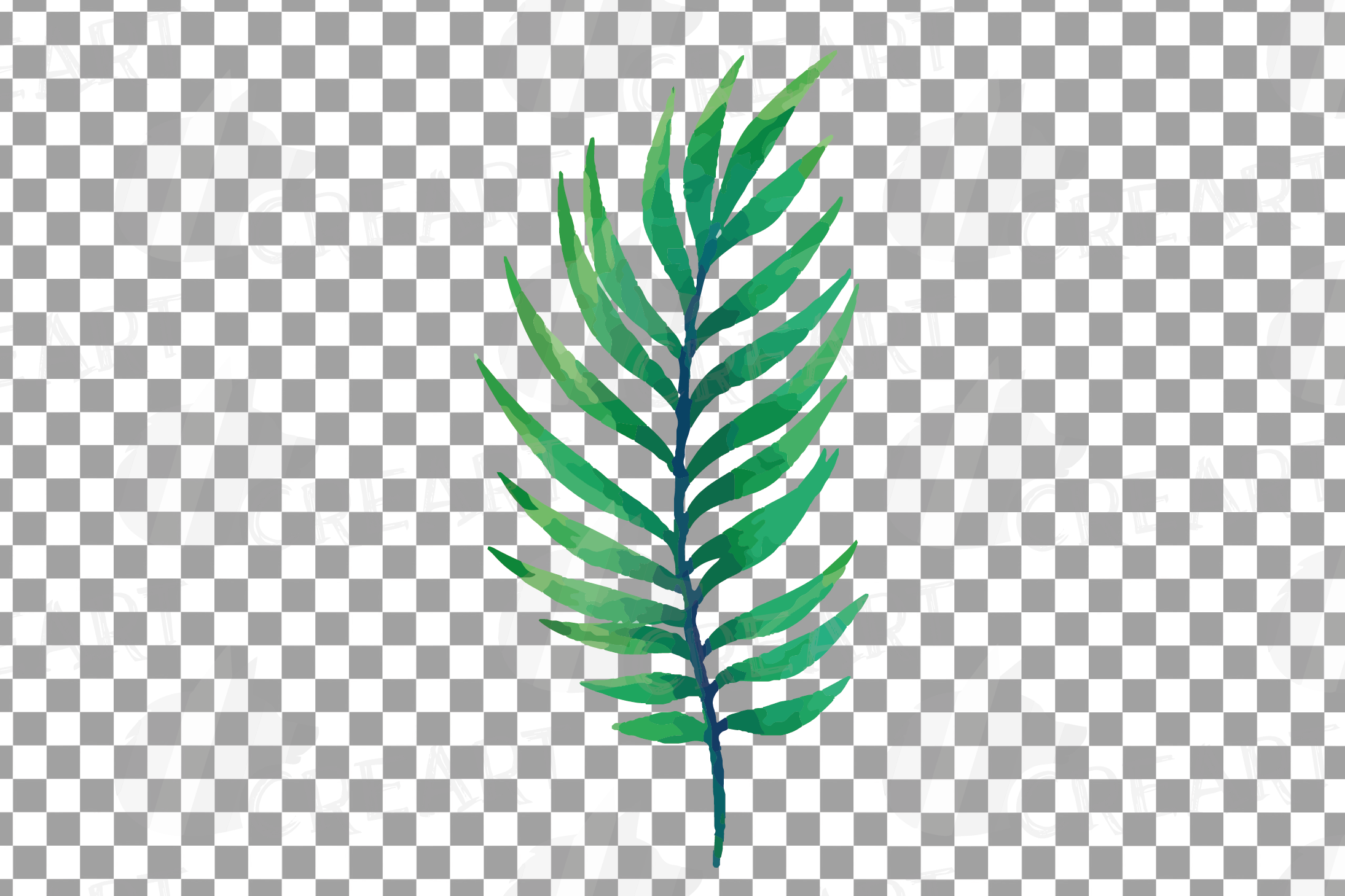 Tropical navy blue and green leaves and exotic flowers example image 14