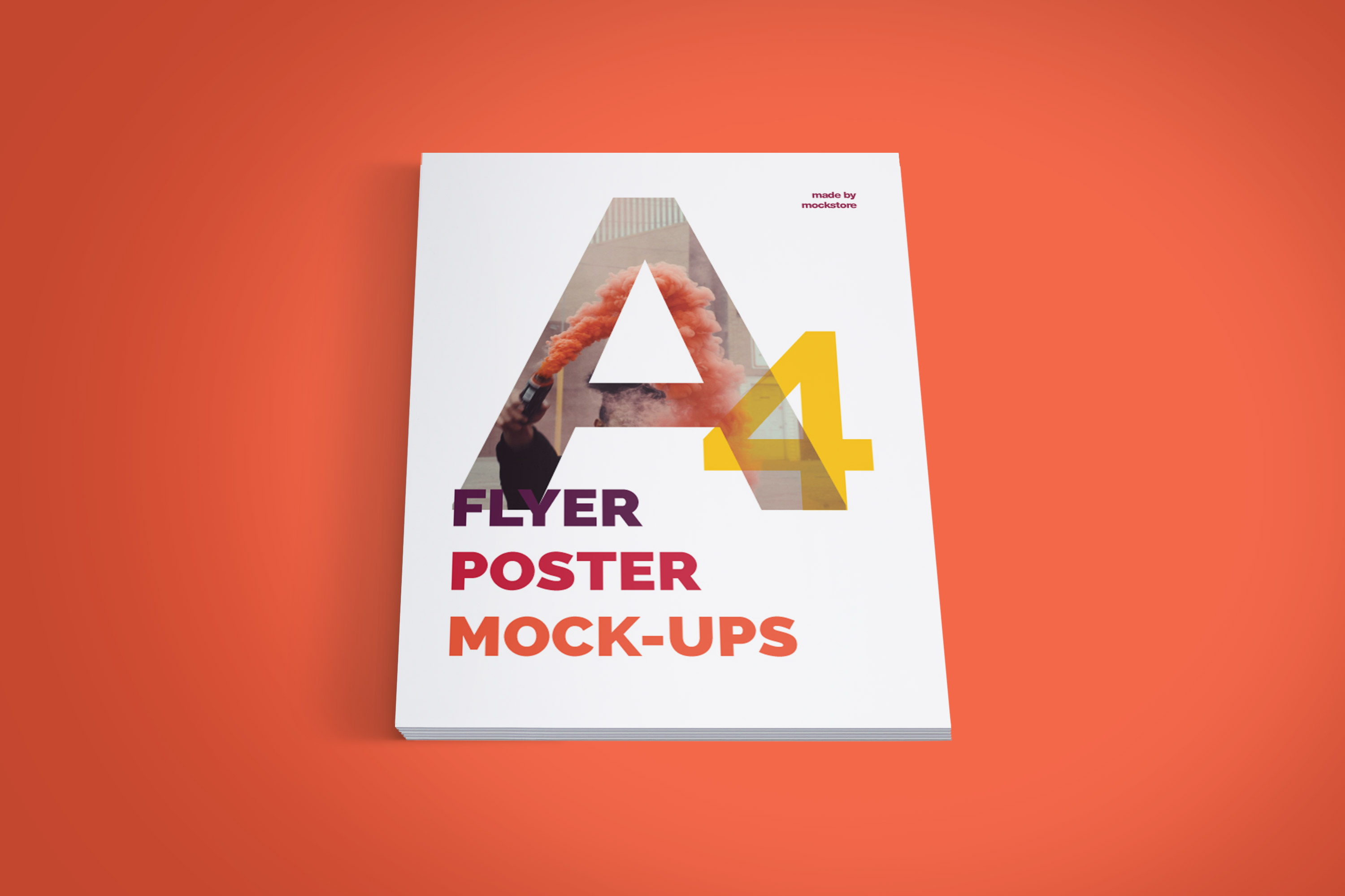 A4 Flyer / Poster Mockups example image 9