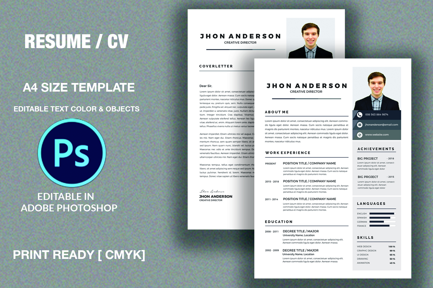 Resume /CV Template  example image 2