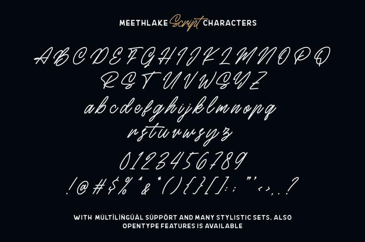 Meethlake Typeface example image 13