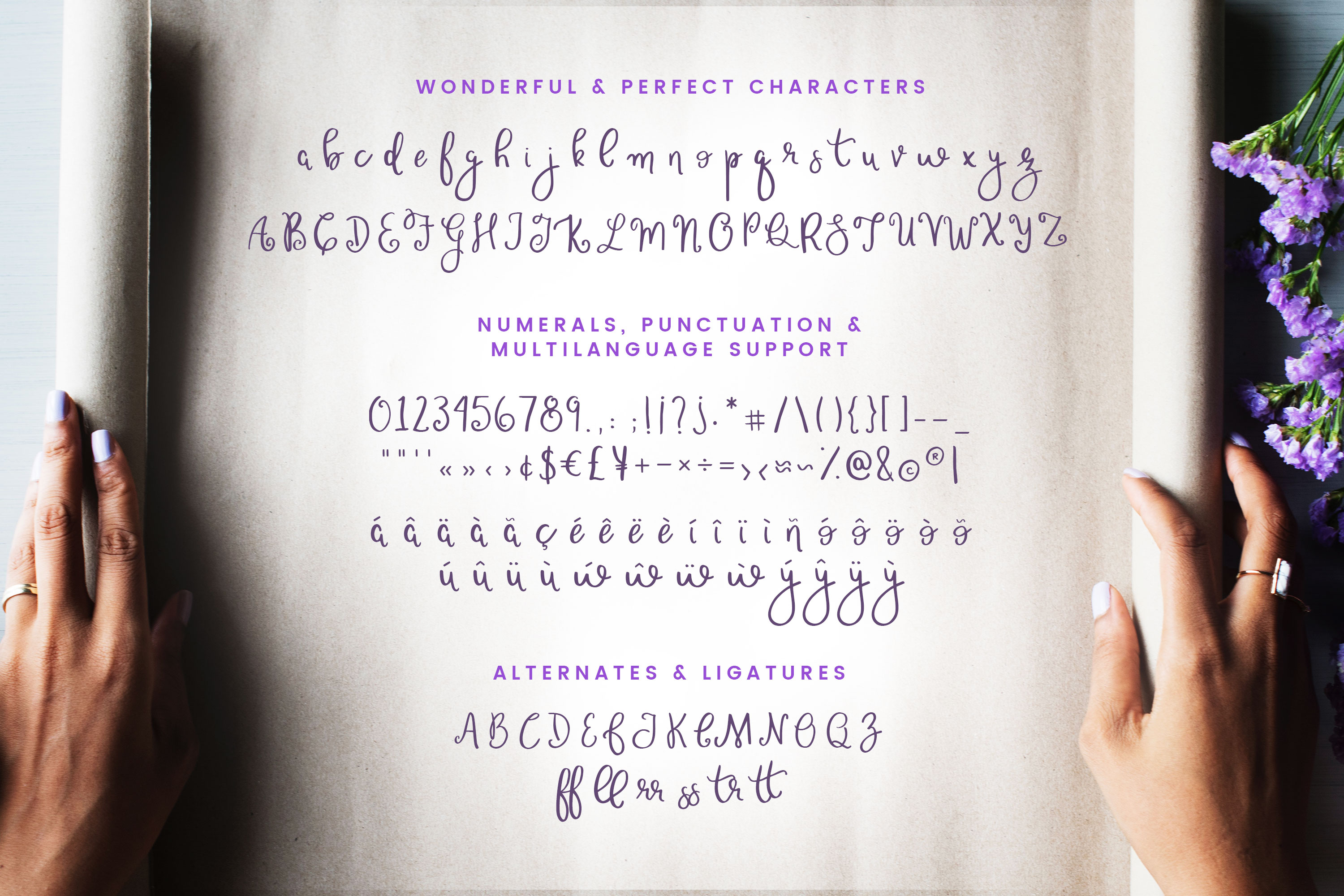 Wonderful & Perfect - A Script Font example image 5
