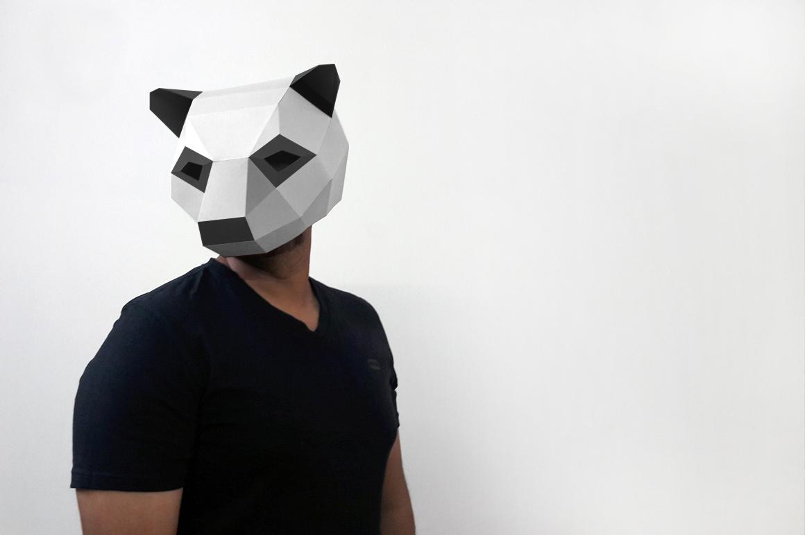 DIY Panda Mask - 3d papercraft example image 2