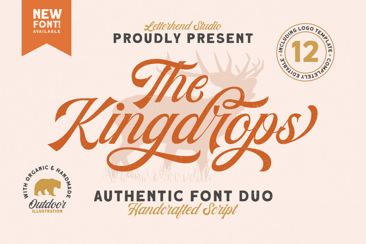 The Kingdrops - Font Duo & Logos example image 1