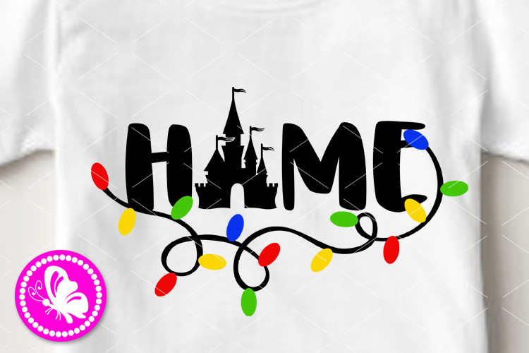 Home sign Svg saying Holidays decor Magic castle Palace png example image 1