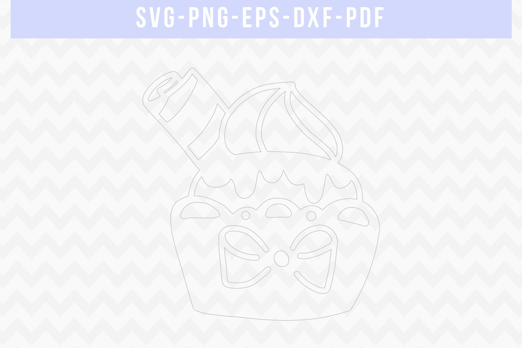 Sweet Cupcake Papercut Template, Birthday Cut File SVG PDF example image 2
