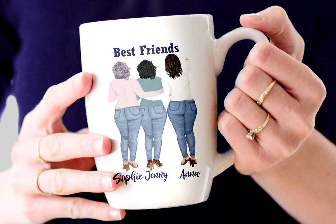 Curvy girls Plus size girls clipart Best Friends clipart example image 5