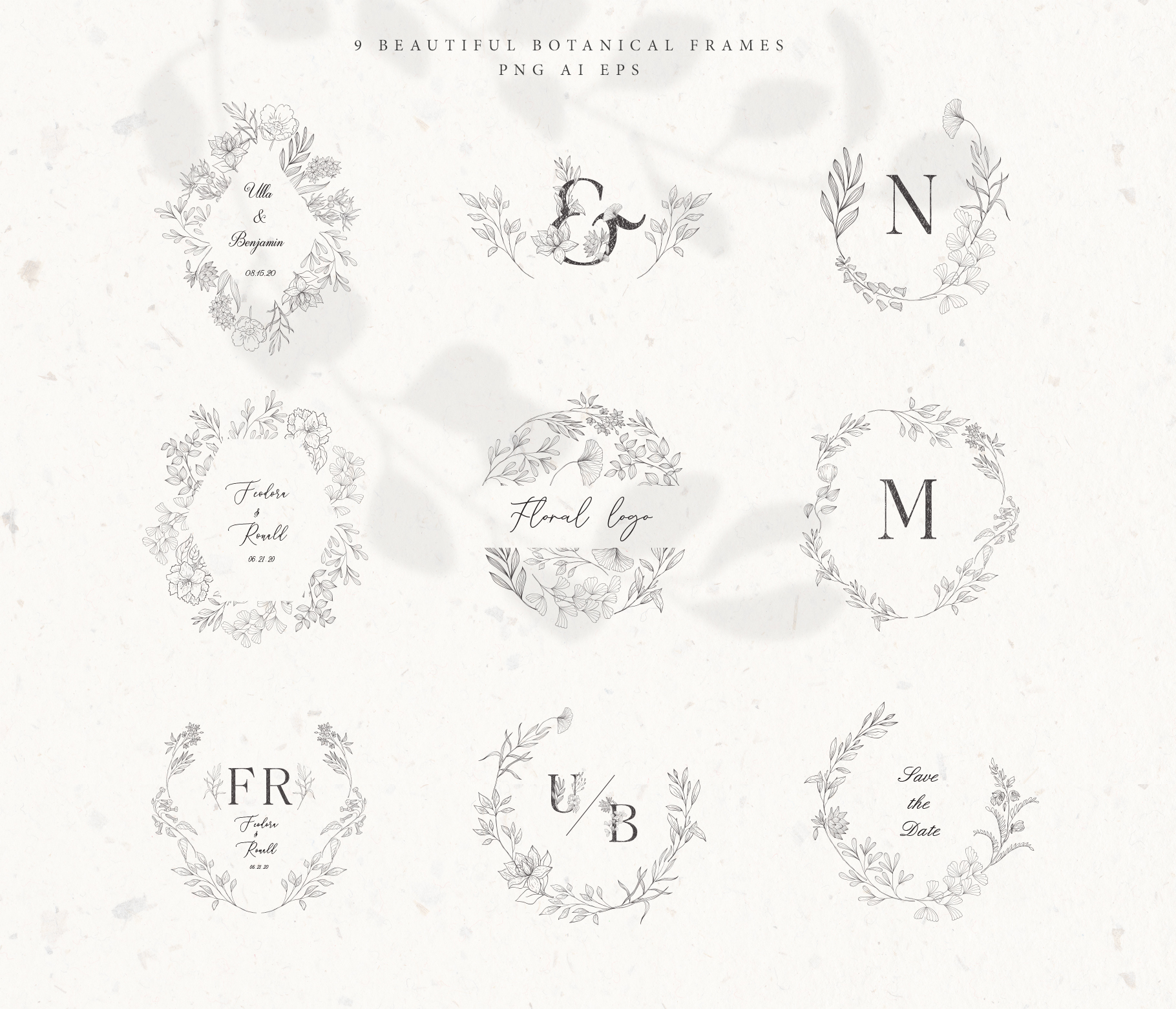 Botanical Alphabet and Monograms. example image 10