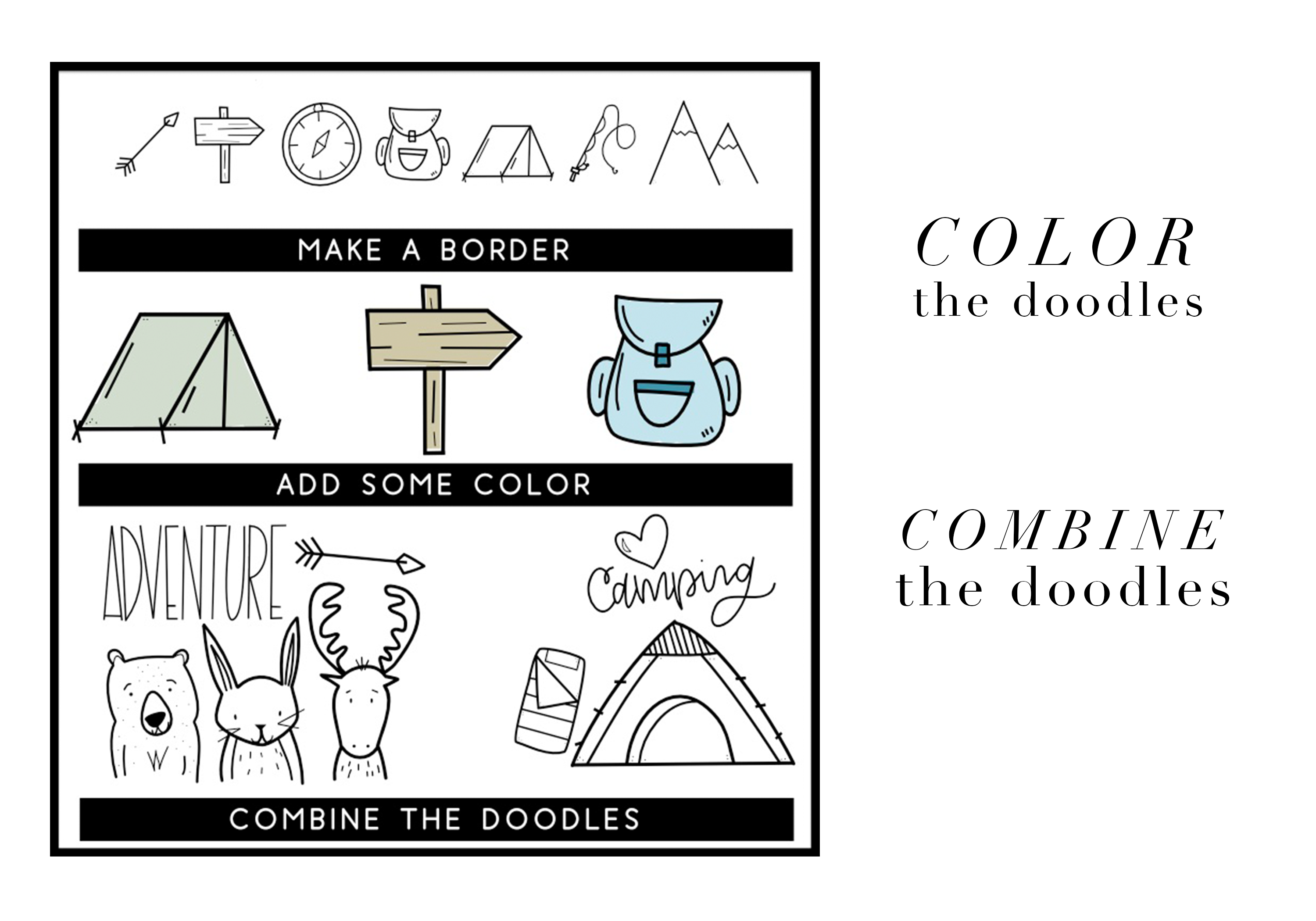 Adventure - A Camping & Outdoors Doodles Font example image 3