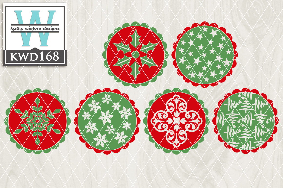 Christmas Cutting Files KWD168 example image 1