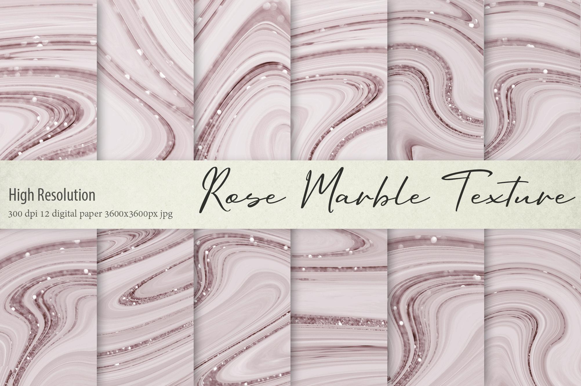 Rose Marble Digital Paper BUNDLE example image 9