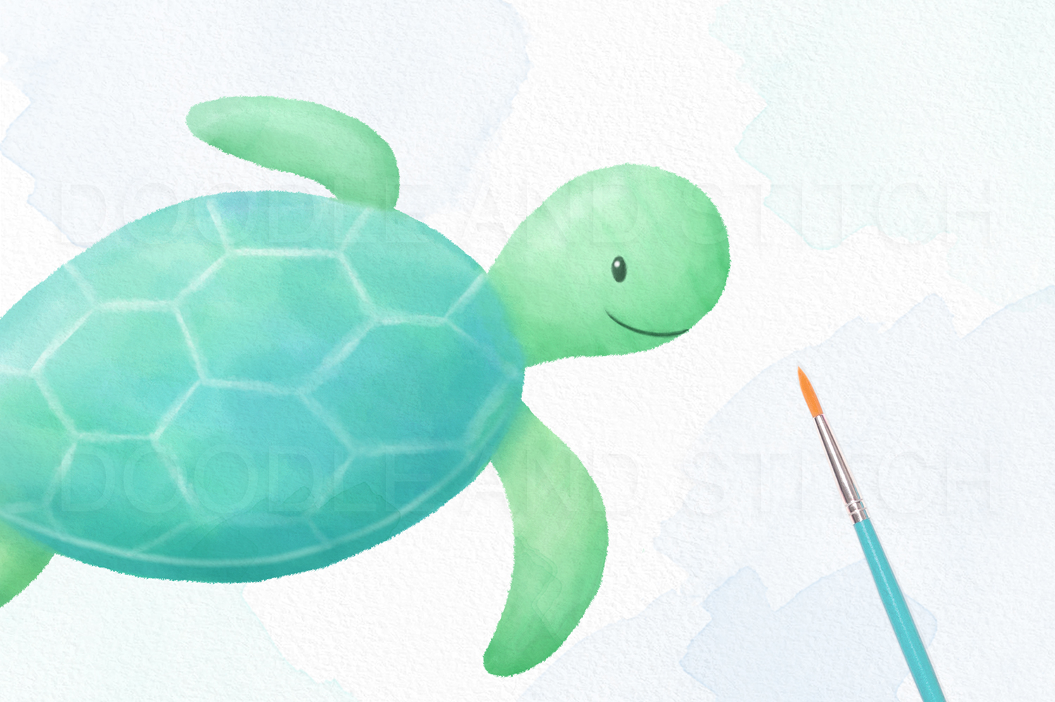 Under the Sea Watercolor Clipart Illustrations example image 3