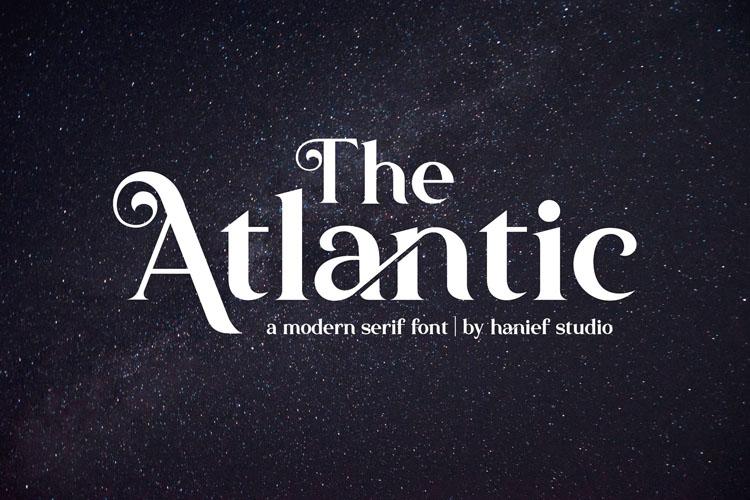The Atlantic//Modern Serif Font example image 2