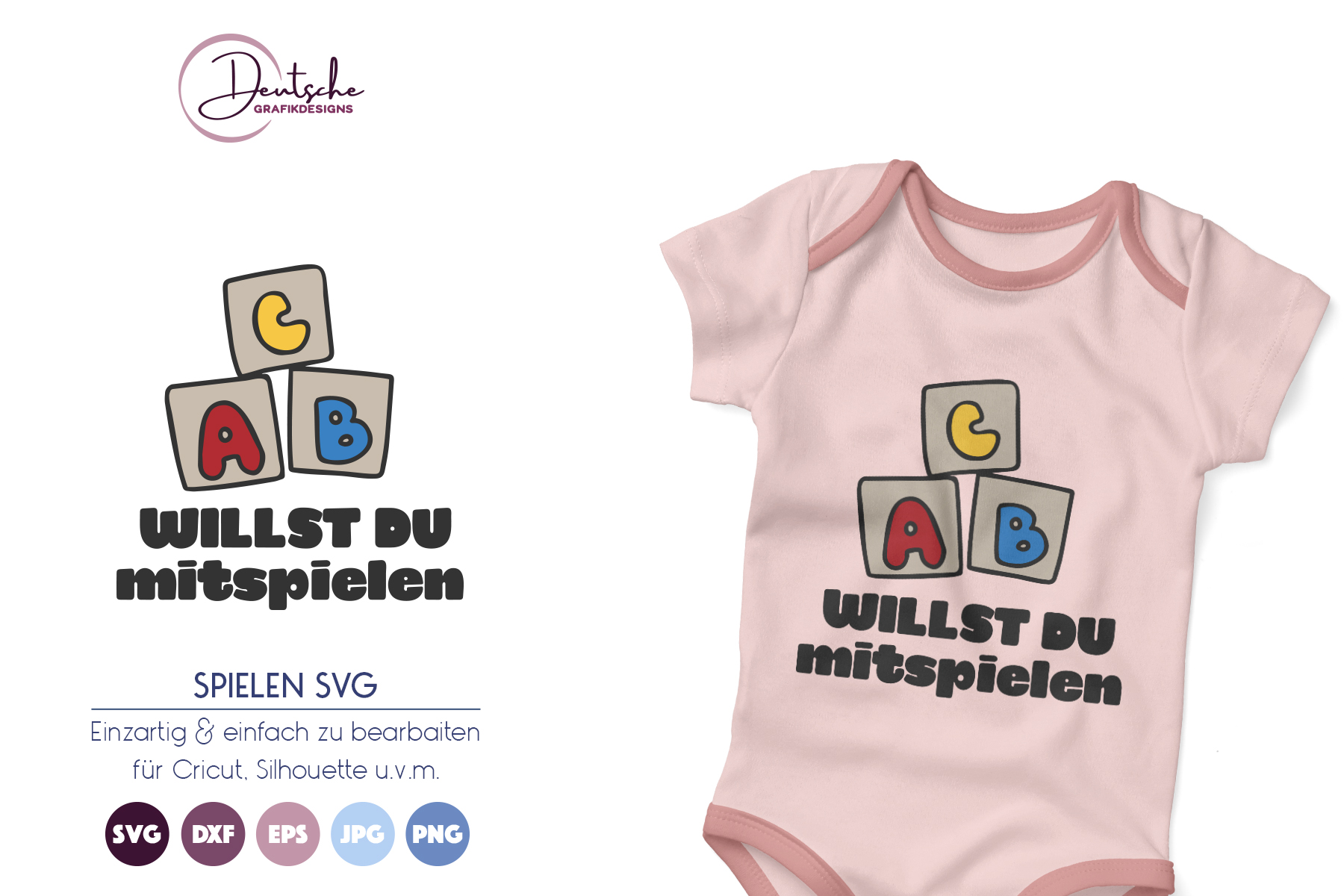 Kinder SVG | Willst Du mitspielen SVG example image 1