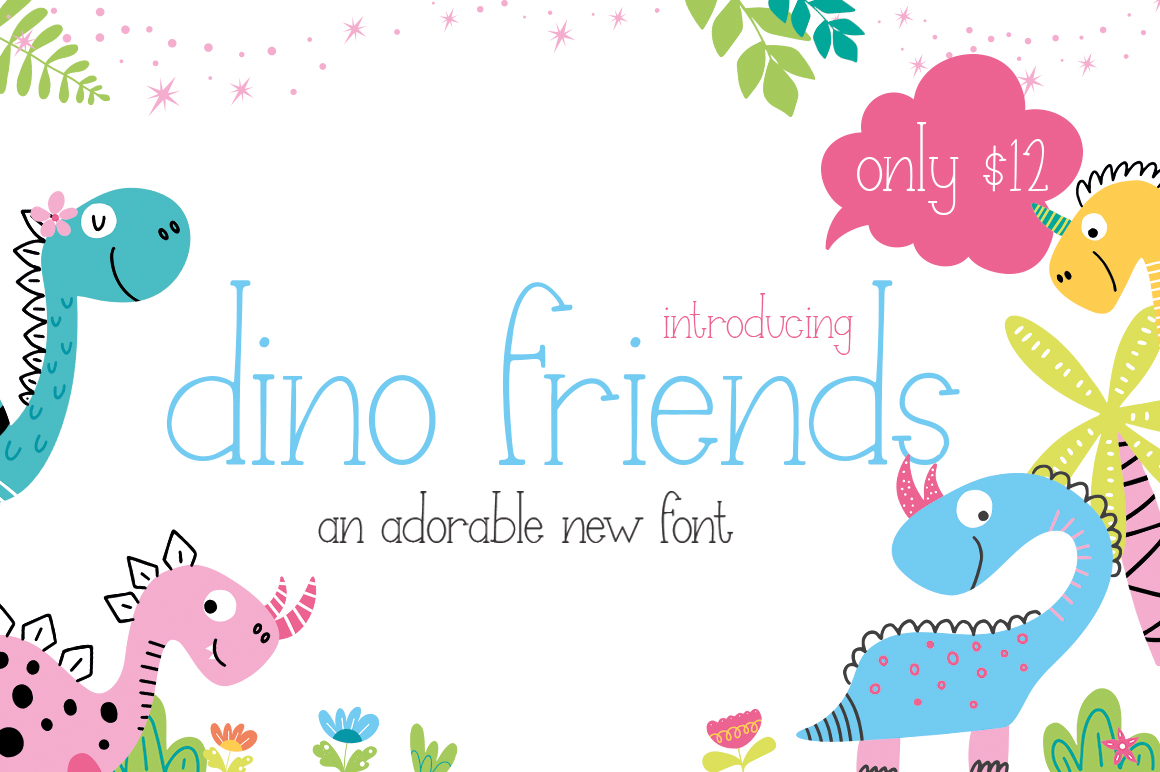 Dino Friends Font example image 1