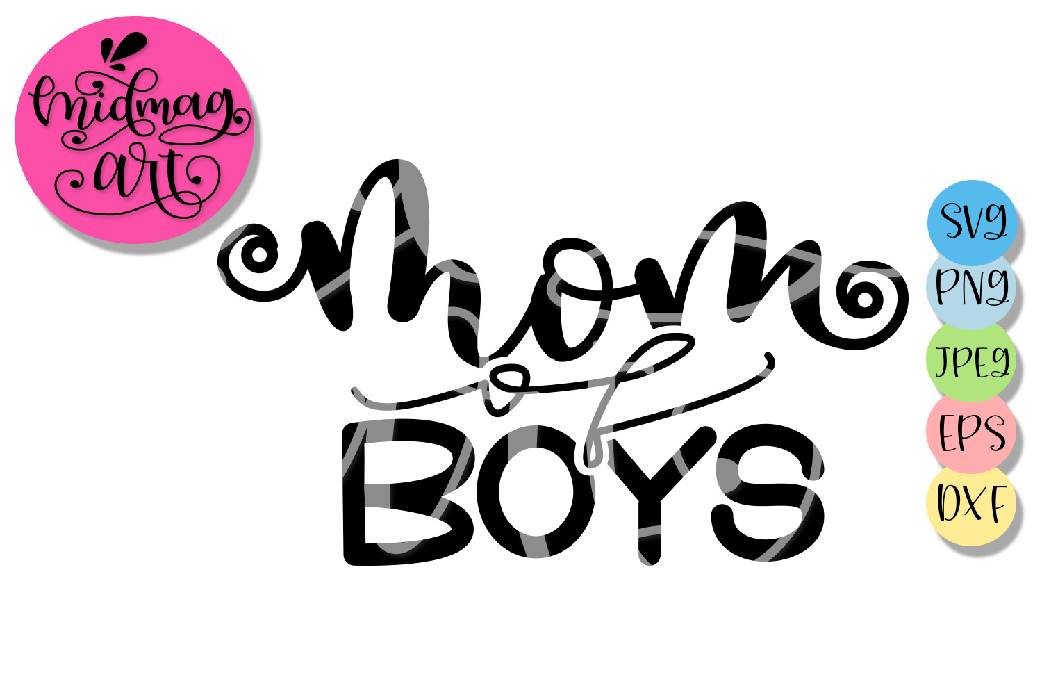 Mom of boys svg, Mothers day svg example image 2