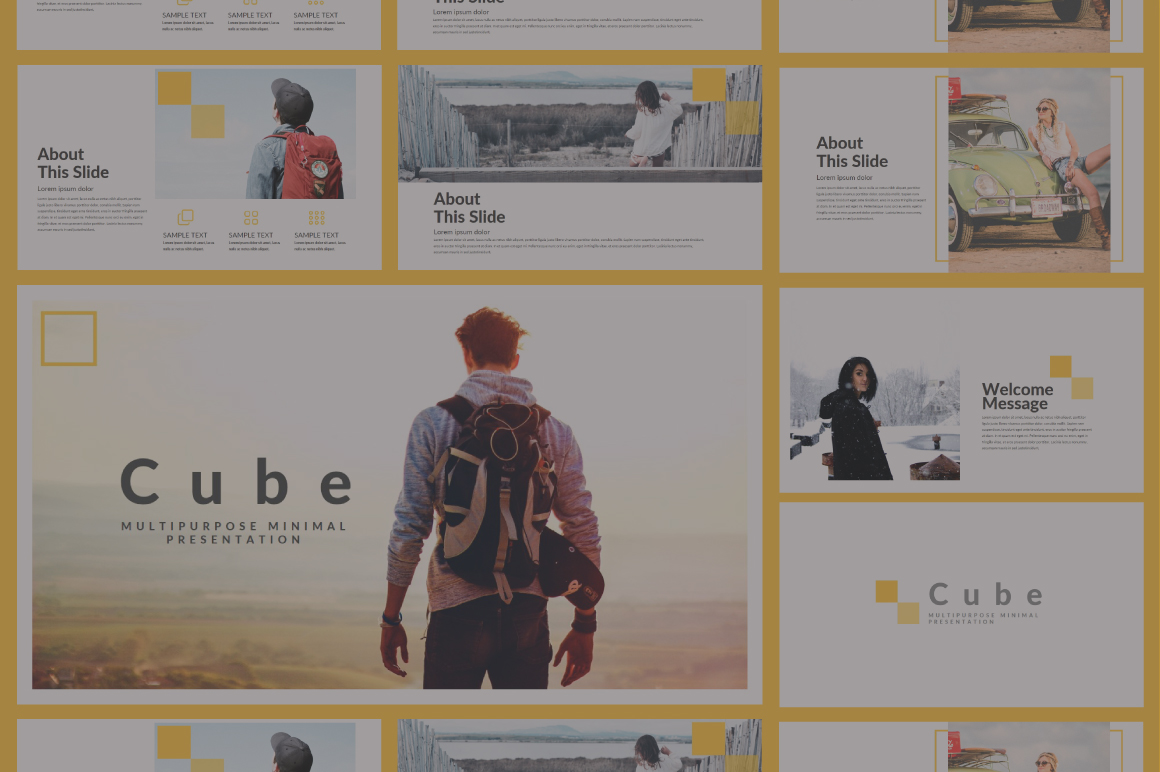 Cube Powerpoint Template example image 1