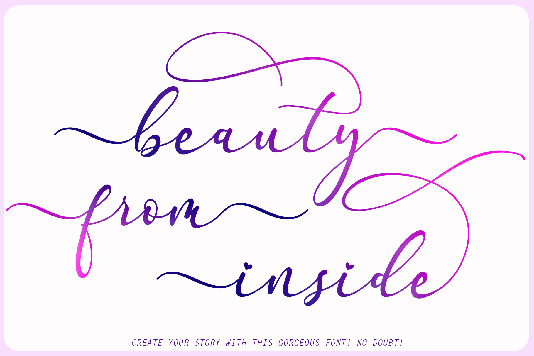 Faradilla - Beautiful Script example image 2