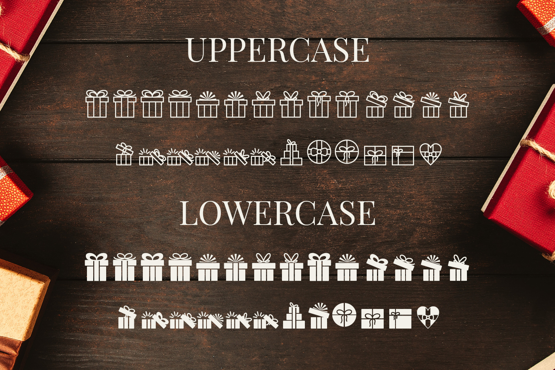 Presents - Pictorgram Font example 4