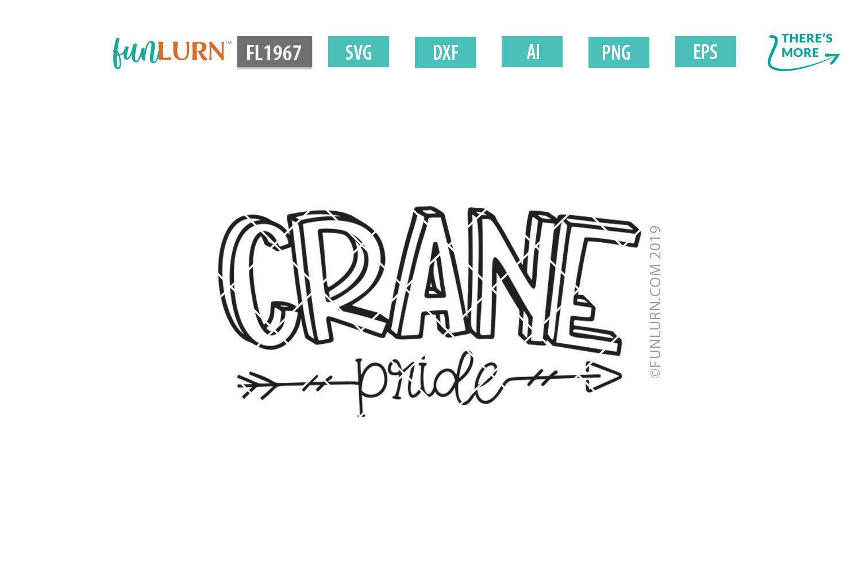 Crane Pride Team SVG Cut File example image 2