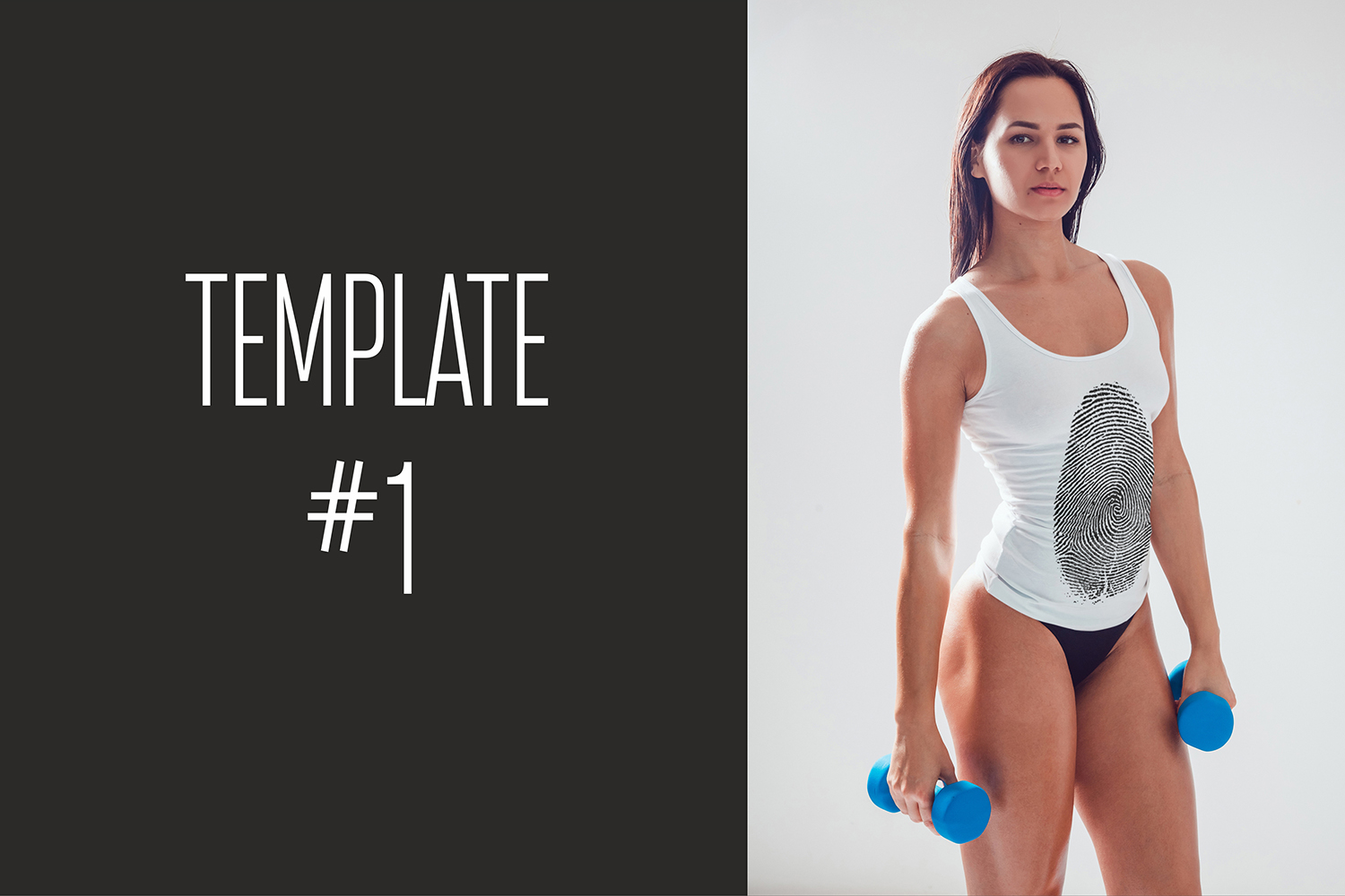 Sport Girl Tank-Top Mock-Up example image 7