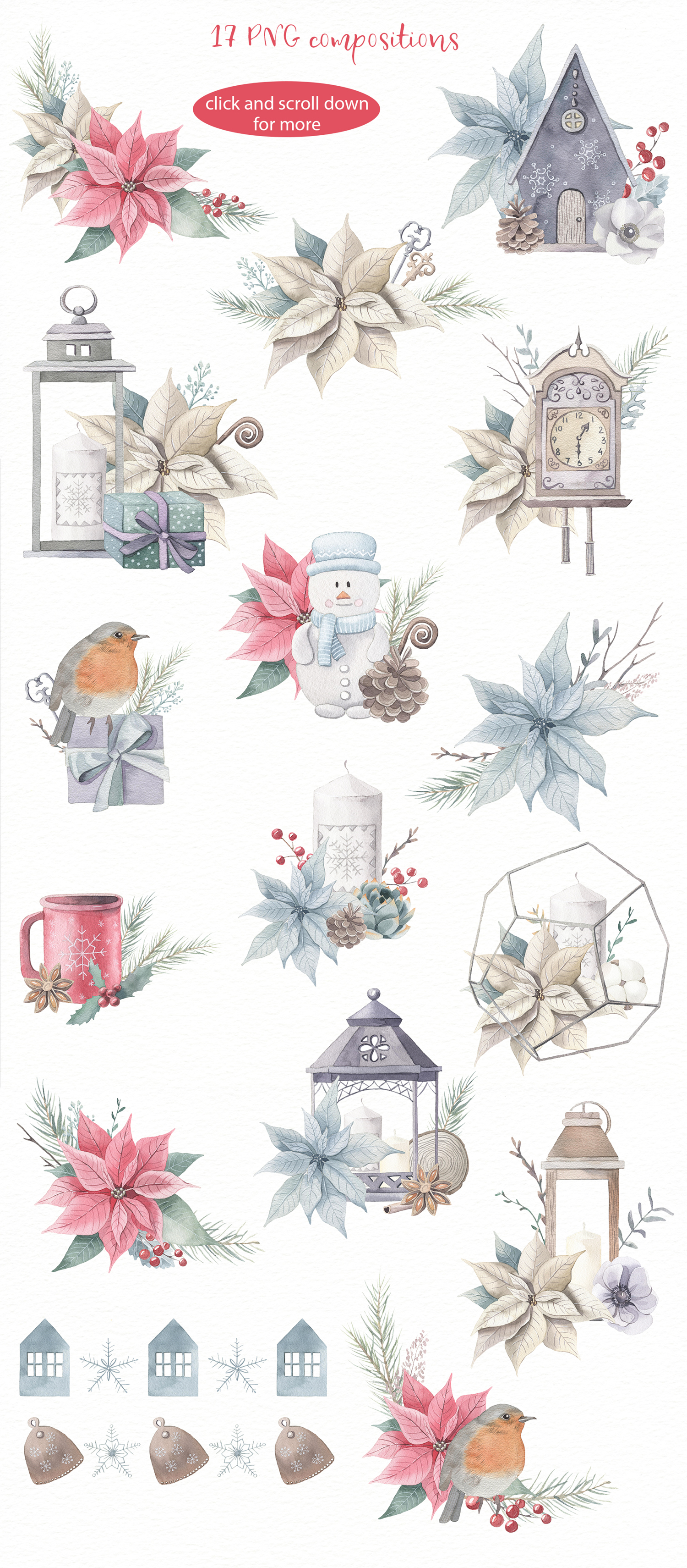 Christmas Dreams- Watercolor Set example image 4