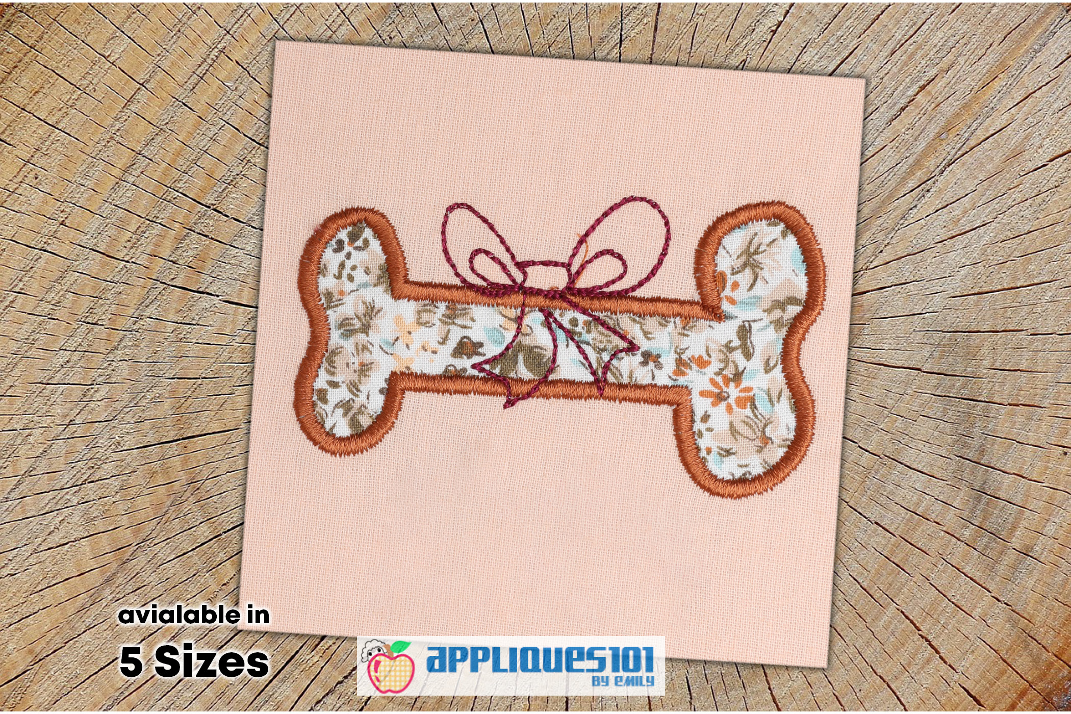 Dog Bone Machine Embroidery Applique Design - Bones example image 1