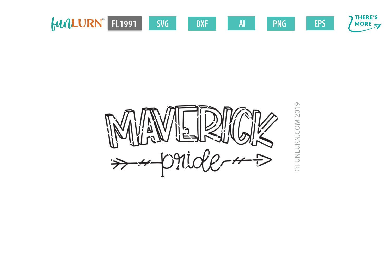 Maverick Pride Team SVG Cut File example image 2