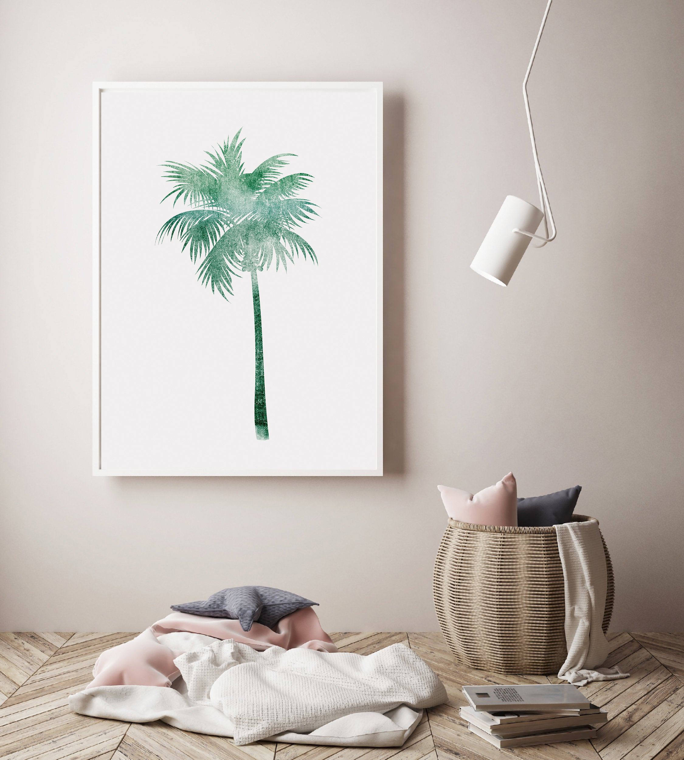 Palm Tree Printable Wall Art, Green Palm Tree Poster example image 4