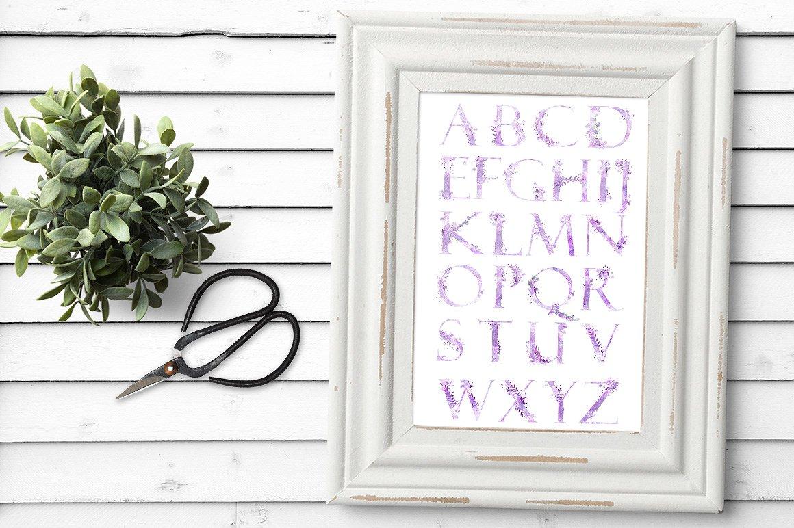 Watercolor alphabet - DREAMS example image 3