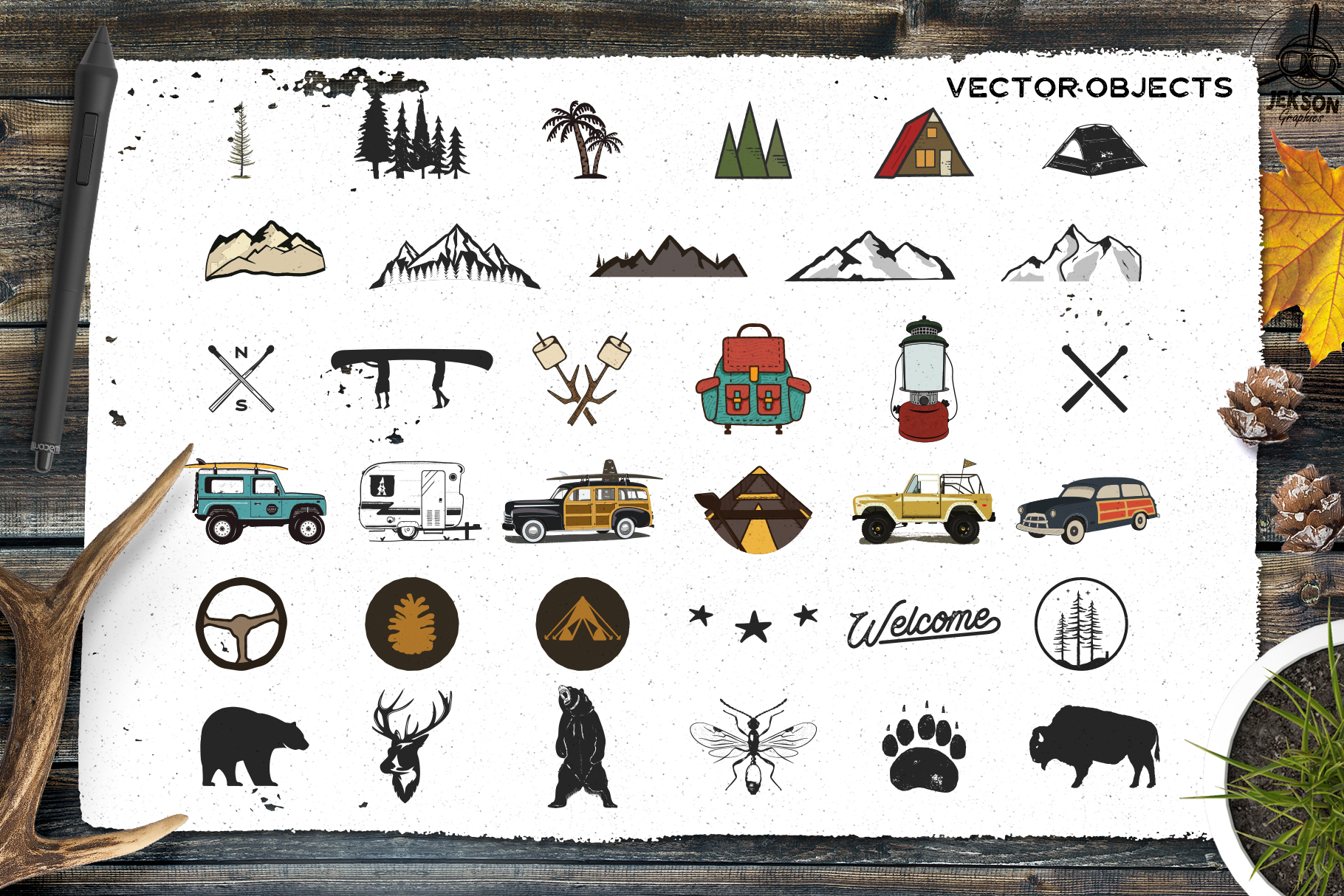 Retro Camp Badges | Adventure Patches. Part 3 | SVG Cut File example image 5