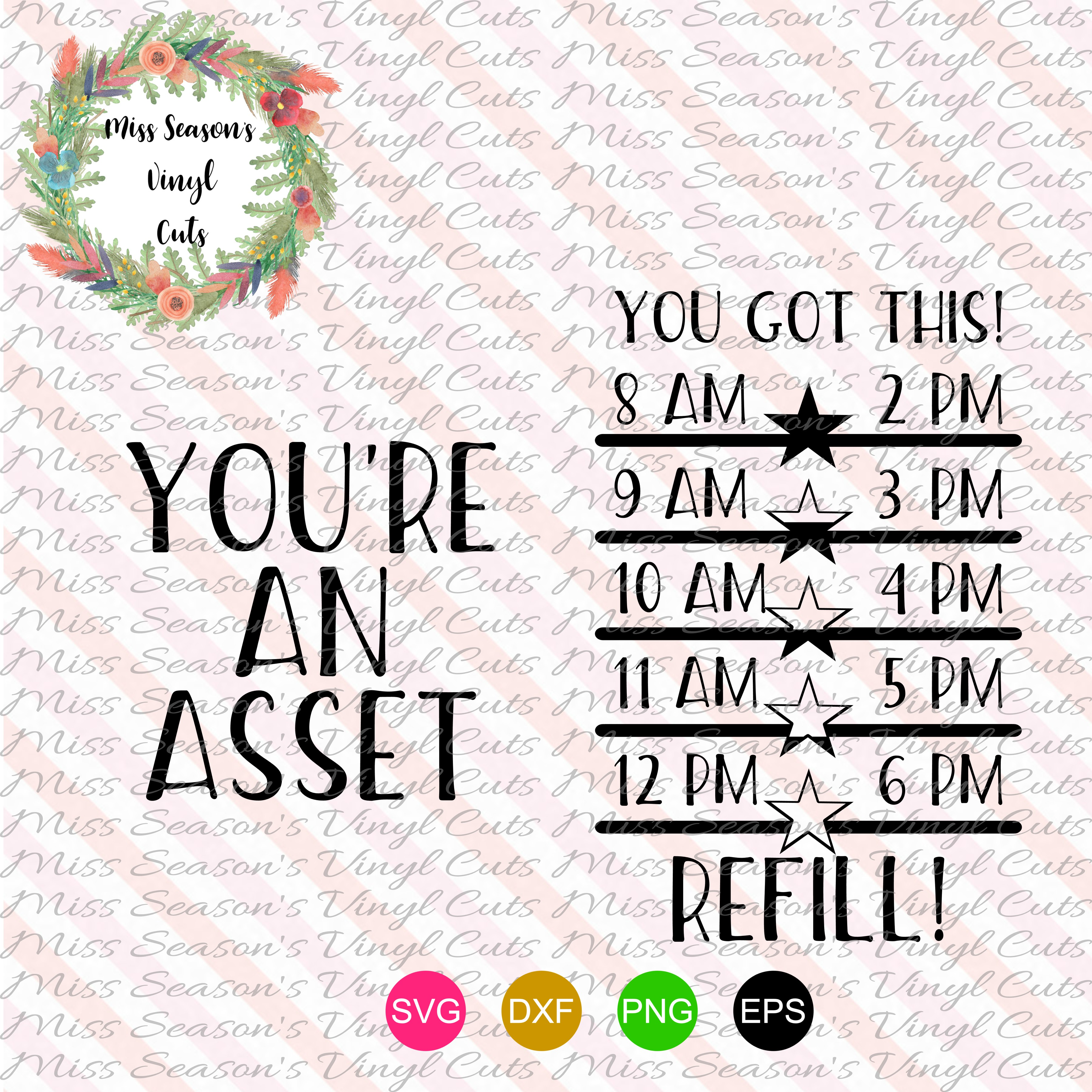 Youre an Asset Water Bottle SVG, DXF, Eps, Png Digital Cut example image 1