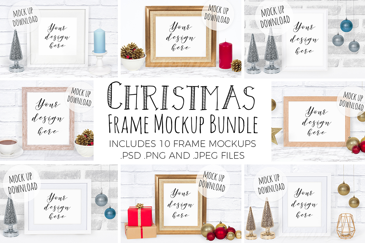 Christmas Frame Mockup Bundle example image 1
