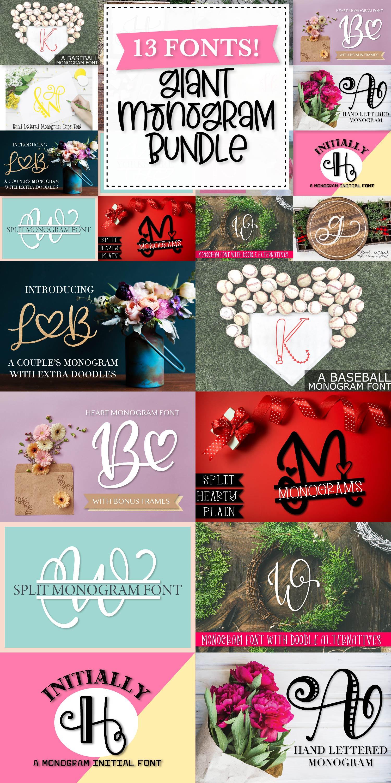Big Monogram Bundle - 10 of my Best Selling Monogram Packs! example image 12