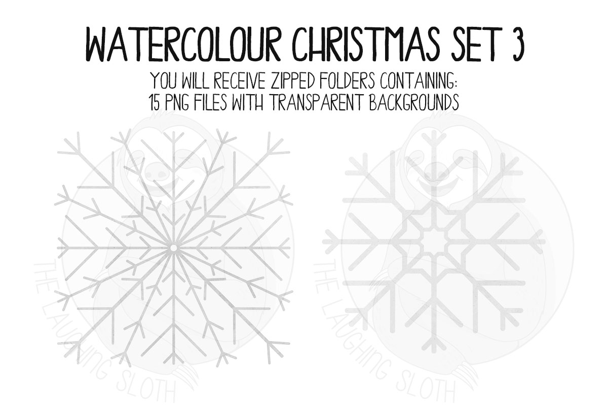 Watercolor Christmas Clipart Set 3 example image 5
