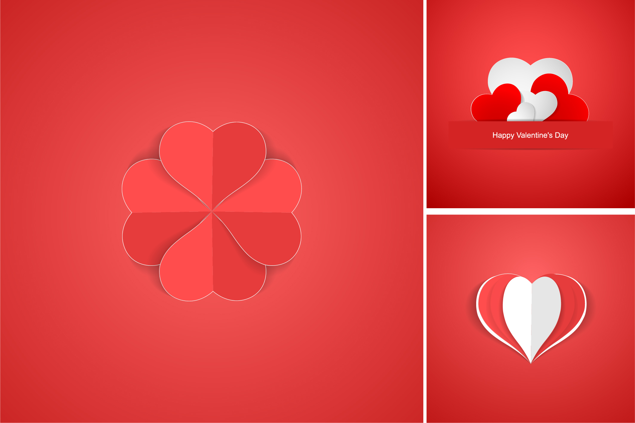 Red postcards with origami hearts. example image 10