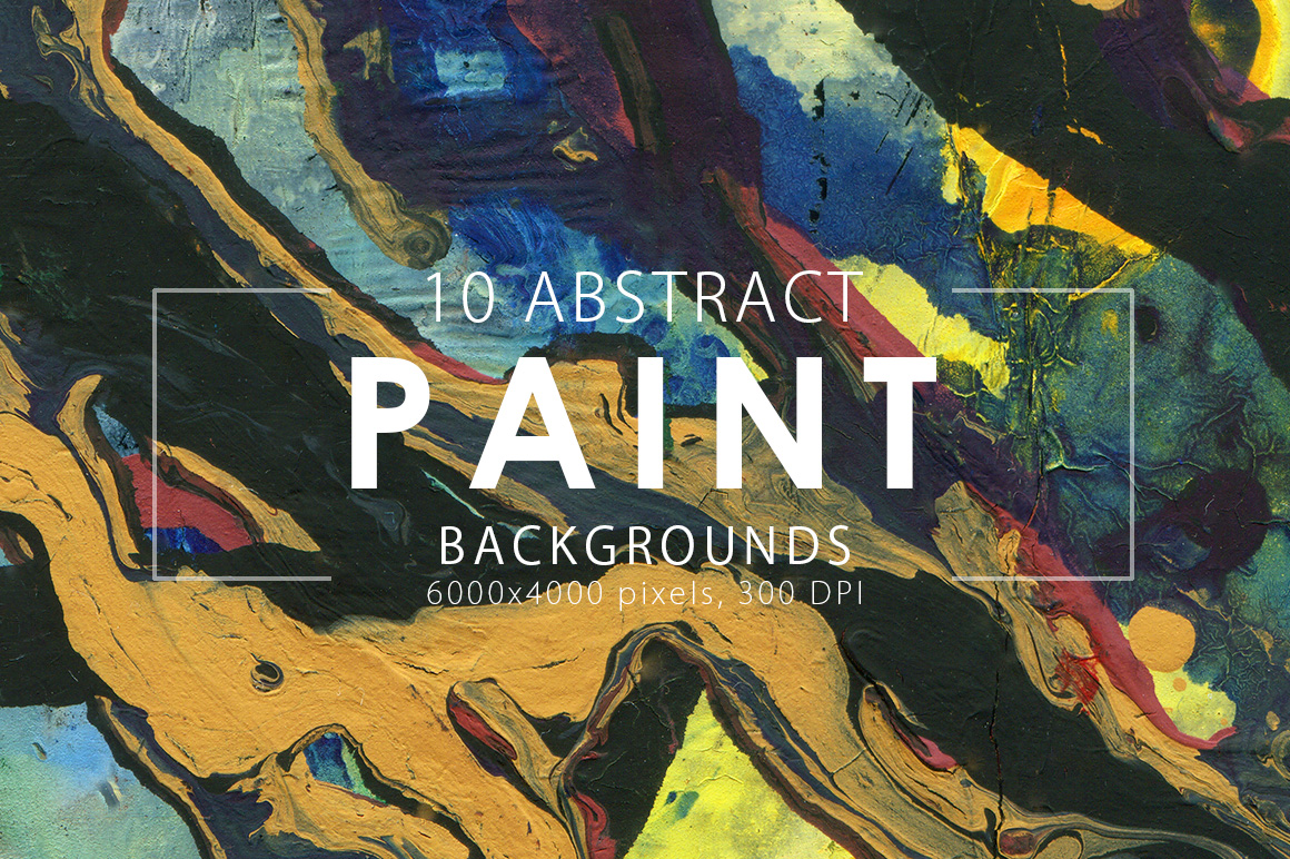 Abstract Paint Backgrounds Vol.1 example image 1
