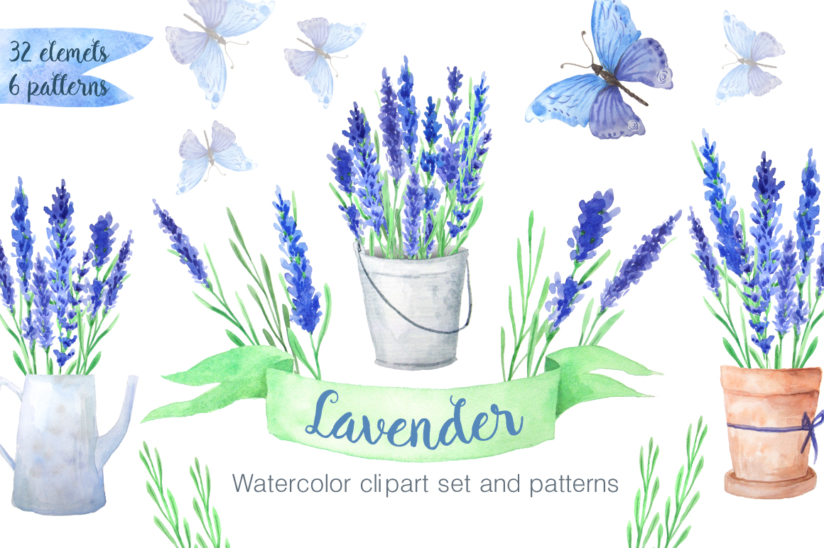 Summer Watercolor Floral BUNDLE example image 12