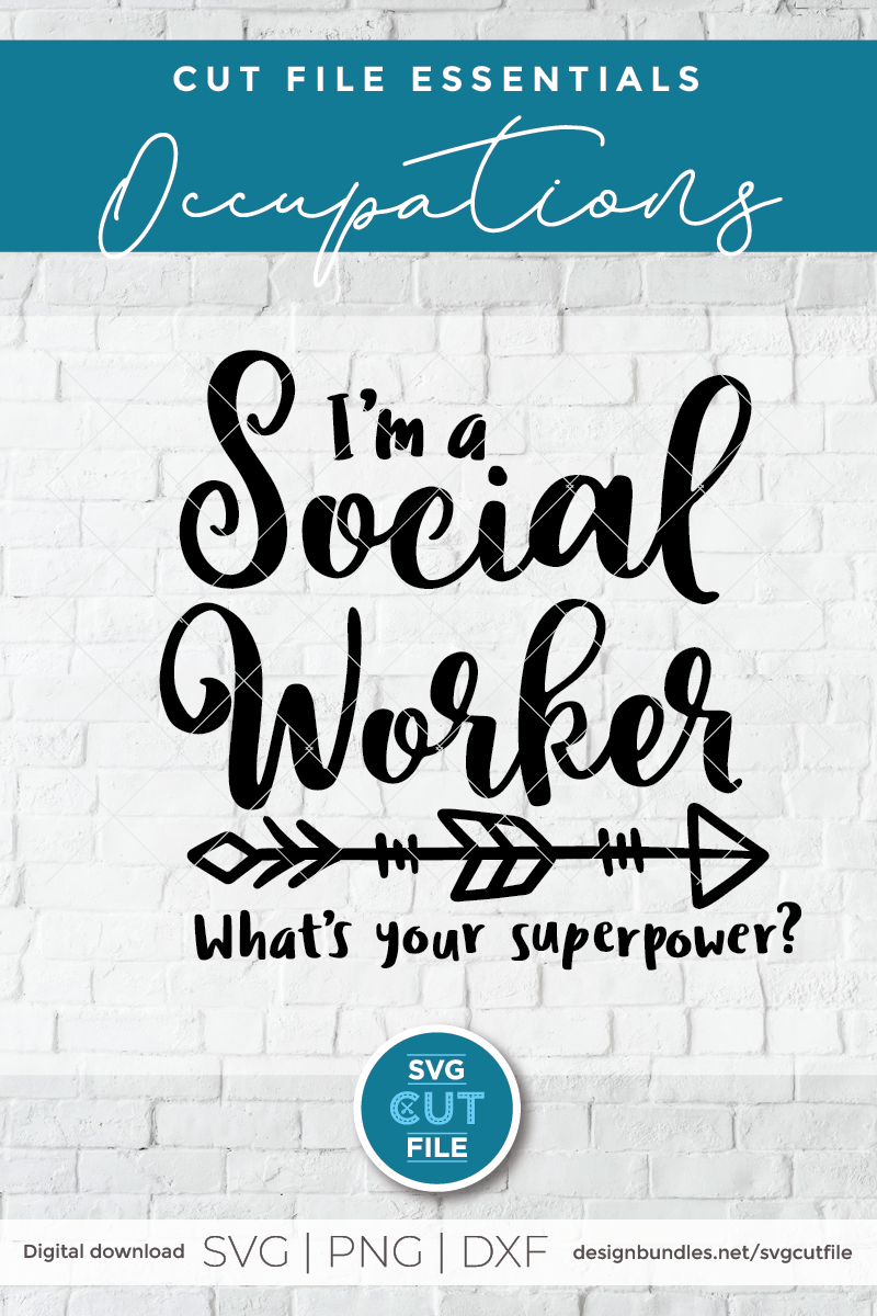 Social worker svg, social work svg, whats your superpower example image 2