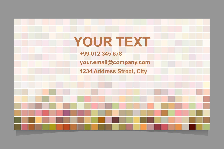 14x2 pixel mosaic business card templates (EPS, AI, JPG 5000x5000) example image 2