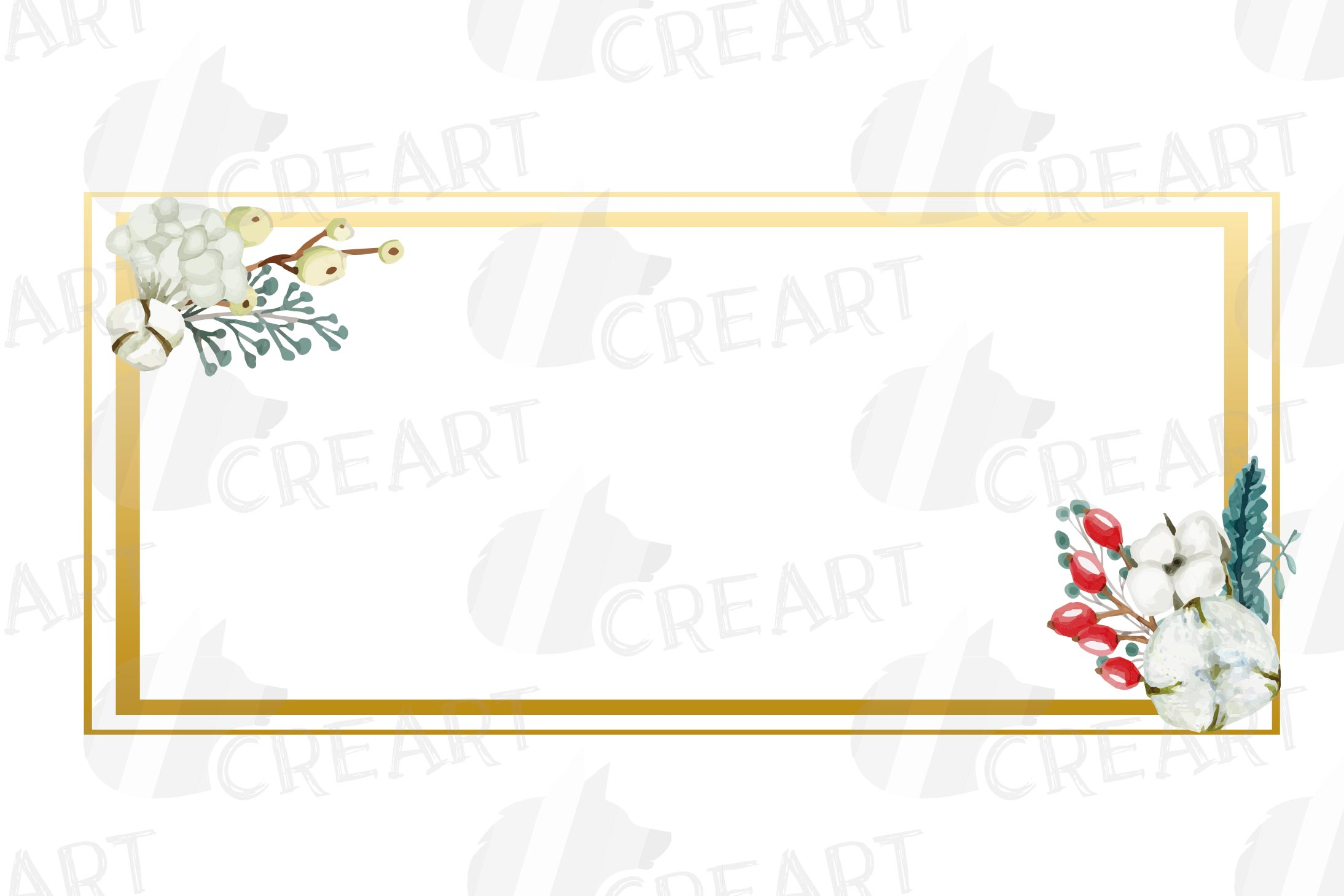 Cotton bolls and fir branch leafy autumn and winter decor example image 2