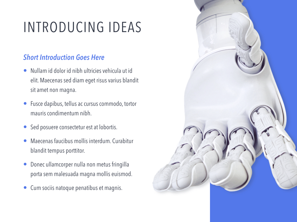 Robot Showcase PowerPoint Template example image 4
