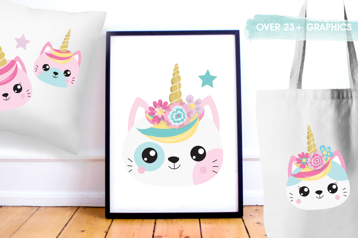 Kawaii Cats graphic and illustrations example image 3