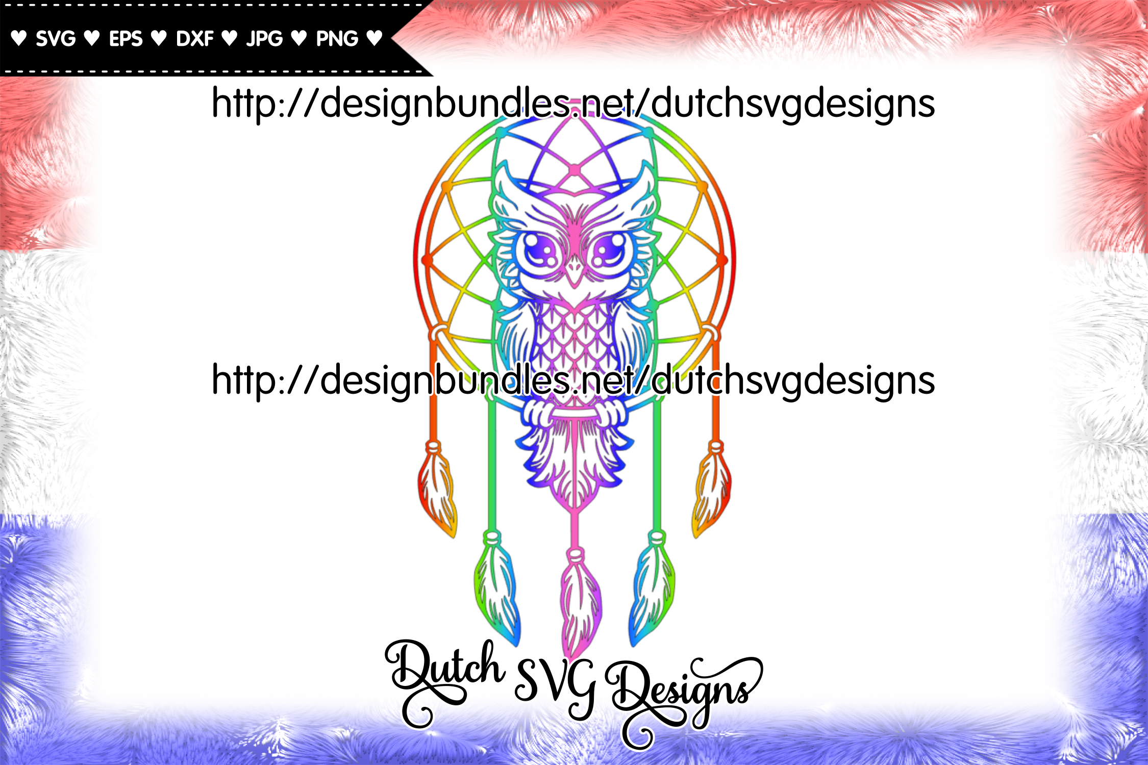 Dreamcatcher cut file with owl, dreamcatcher svg, owl svg example image 2